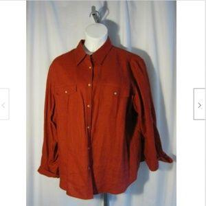 Ralph Lauren Red Linen Shirt